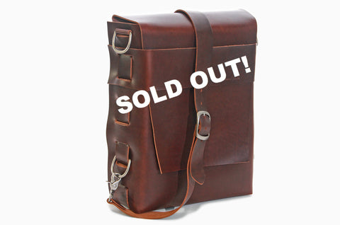 No. 820 - The Classic Handmade Leather Bag in Madmen Brown - SOLD OUT
