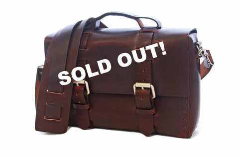 No. 4313 - Standard Minimalist Leather Satchel in Aged Rum - SOLD OUT