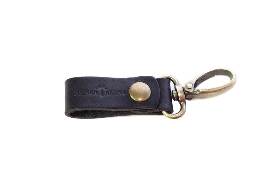 No. 614 - Key Fob in Horween's Black