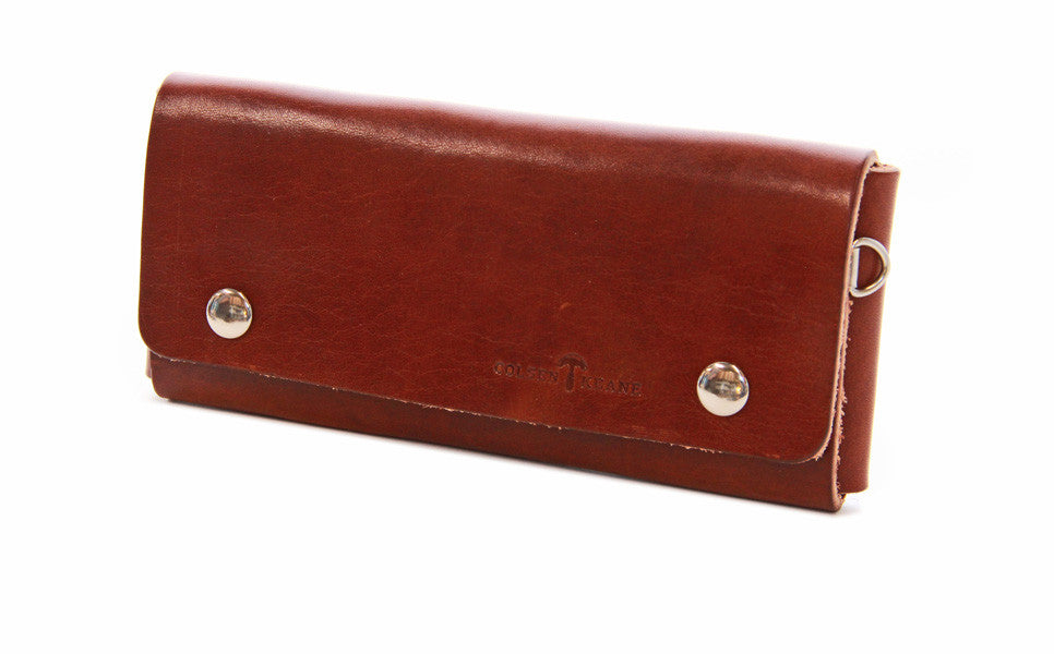 No. 514 - Large Trucker Wallet in Havana Brown