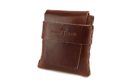 No. 1111 - LIMITED Square MicroWallet in Havana Brown