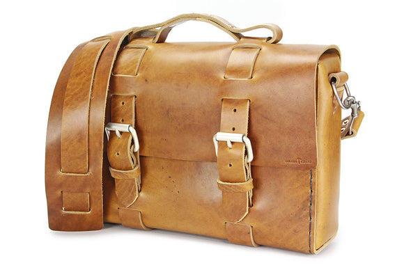 No. 4313 - Standard Minimalist Leather Satchel in LIMITED Mojave Sand