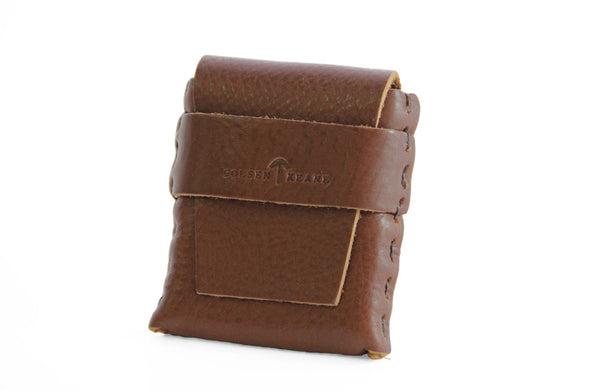 No. 1111 - LIMITED Square MicroWallet w/ Cover in Brown