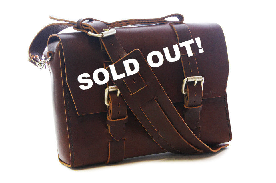 No. 4313 - Minimalist Standard Satchel in a BEEFY Limited Brown - SOLD OUT!