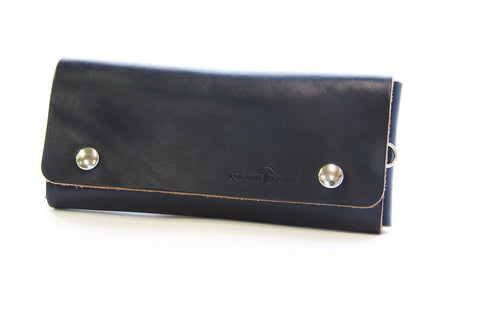 No. 514 - Large Trucker Wallet in Horween's Black