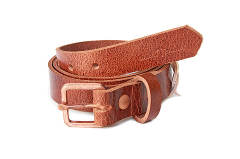 No. 819 - Skinny Copper Work Belt in Glazed Tan