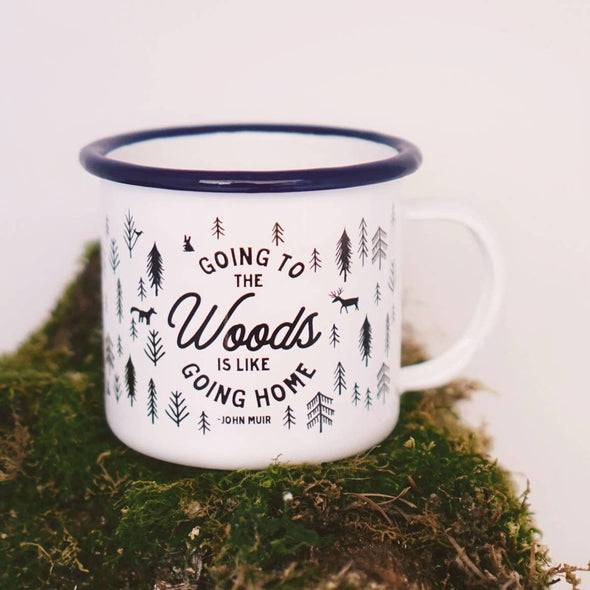 Going to the Woods John Muir Camp Mug