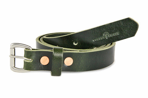 No. 814 - Skinny Belt in British Green Buffalo