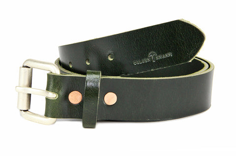 No. 914 - Work Belt in British Green Buffalo