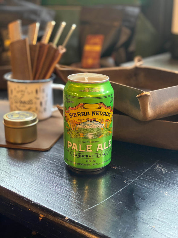 Carolina Beer Candles - Sierra Nevada Pale Ale 12 oz Can in Oakmoss & Amber