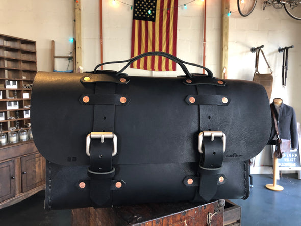 Custom No. 4311 - Satchel in Buffalo Black
