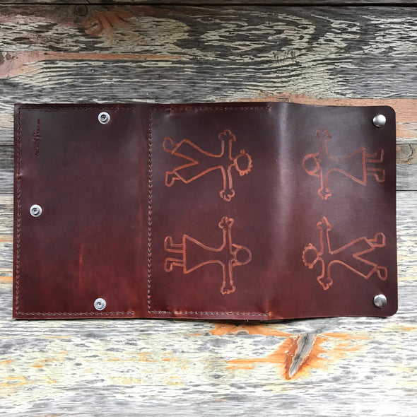 Tooled Clutch Wallet in Scotch Grunge