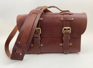 Seasoned No. 4311 - Large Scotch Grunge Leather Satchel with Rear Insert