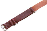 Three Ring Leather Watch Band w/ Stainless Steel & Scotch Grunge Leather