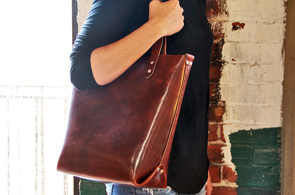 No. 417 Tote in Natural Tan
