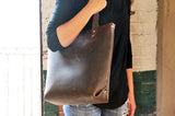 No. 417 Tote in Glazed Tan