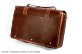 No. 4313 - Minimalist Large Leather Satchel in Rob Roy Bourbon - SPECIAL Holiday Run, Only One Made! SOLD OUT