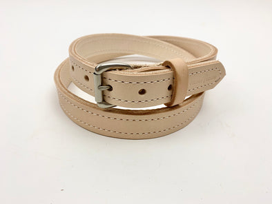 Summer SS 20 - No. 418 - The Stitched Skinny Work Belt in Natural Tan - Size 42