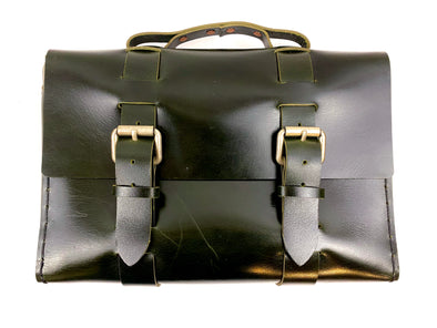 Summer SS 20 -  No. 4313 - Minimalist Standard Leather Satchel in Buffalo British Racing Green