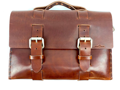 Summer SS 20 - No. 4313 - Minimalist Standard Leather Satchel in Havana Brown