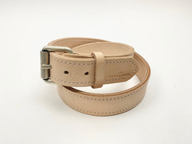 Summer SS 20 - No. 518 - The Beefy Stitched Work Belt in Natural Tan - Size 37