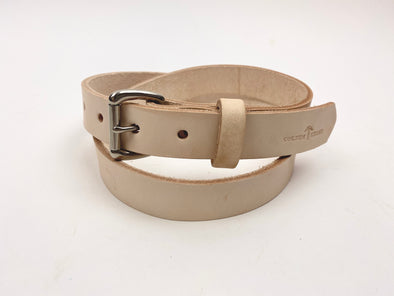 Summer SS 20 -  No. 814 - Skinny Work Belt Natural Tan - Size 34