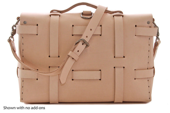 No. 4316 Bohemian Leather Satchel in Natural Tan (back)