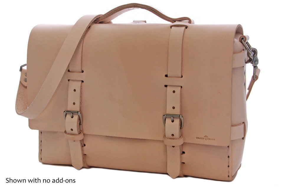 No. 4316 Bohemian Leather Satchel in Natural Tan