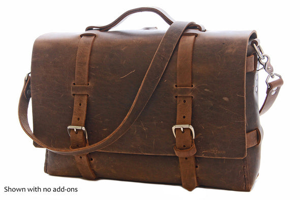 No. 4316 - Bohemian Leather Satchel in Crazy Horse
