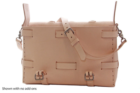 No. 4316 Bohemian Leather Satchel in Natural Tan (backpack option)