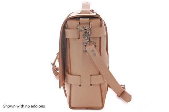 No. 4316 Bohemian Leather Satchel in Natural Tan (side)