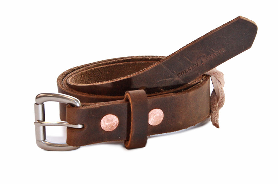 No. 814 - Skinny Work Belt in Crazy Horse