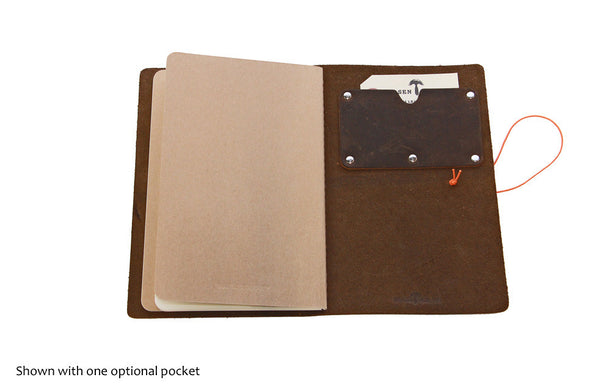 No. 510 - Medium Journal Cover in Brown Crazy Horse