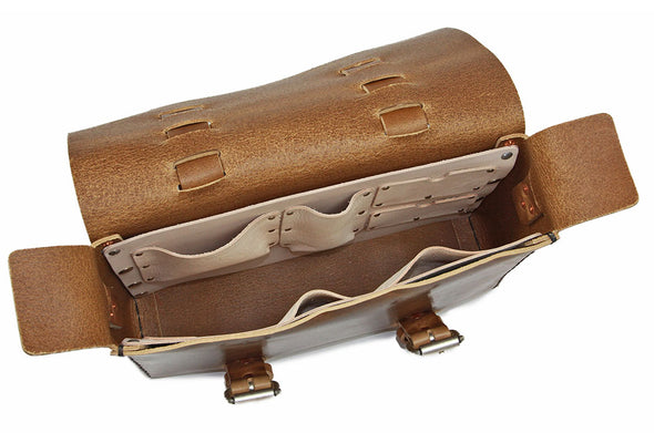 No. 4313 - Minimalist Standard Leather Satchel in Tobacco Vintage Crunch - LIMITED RUN - SOLD OUT!