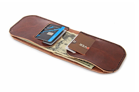 No. 817 Bi-Fold Wallet in Havana Brown