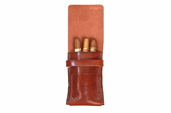 No. 1219 - Cigar Case in Havana Brown
