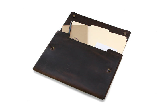 No. 1214 - Extra Large Portfolio Case in Crazy Horse