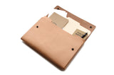 "No. 1214 - Large Portfolio Case in Natural Tan (Fits 15"" Macbook Pro)"