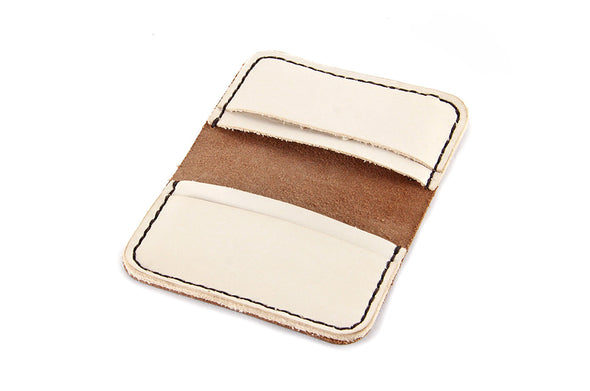 No. 215 - Card Wallet in Glazed Tan