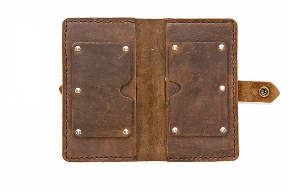 No. 916 Checkbook Cover in Crazy Horse