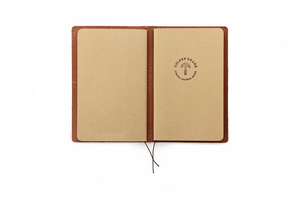 No. 510 - Medium Journal Cover in Glazed Tan