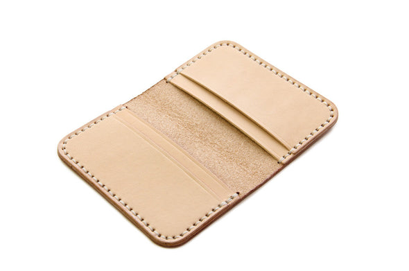 No. 215 - Card Wallet in Natural Tan
