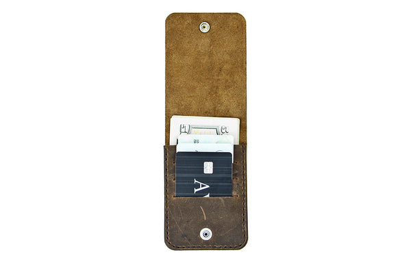 No. 1119 - Snap Wallet in Crazy Horse