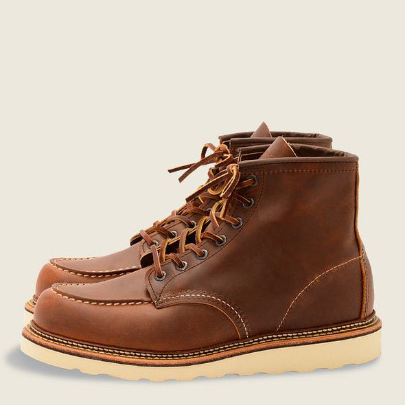 No. 1907 - Red Wing Heritage Classic Moc Style in Copper Rough & Tough Leather