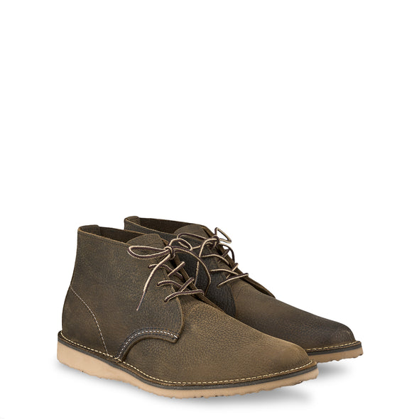 No. 3327 - Red Wing Heritage Weekender Chukka in Olive Brown Roughneck Leather