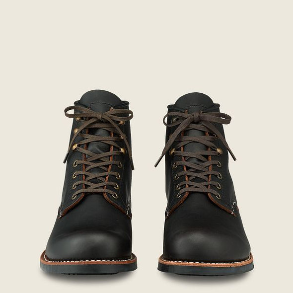 "No. 3345 - Red Wing Heritage 6"" Blacksmith in Black Prairie Leather"