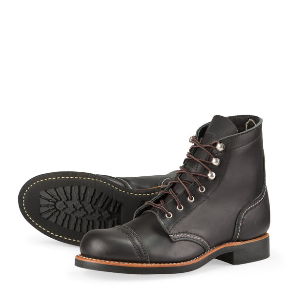 No. 3366 - Red Wing Heritage Iron Ranger Short Boot in Black Boundary Leather
