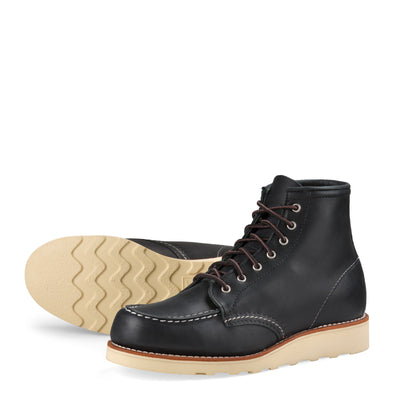 "No. 3373 - Red Wing Heritage 6"" Classic Moc Short Boot in Black Boundary Leather"