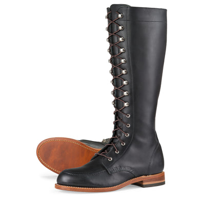 No. 3385 - Red Wing Heritage Gloria Tall Boot in Black Boundary Leather