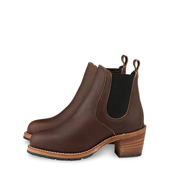 No. 3392 - Red Wing Heritage Harriet Heeled Boot in Mahogany Oro-Iginal Leather